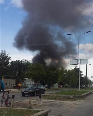 Гори кај Здравко Цветковски ГУЦ во Скопје