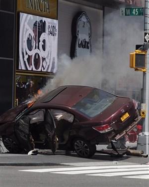 Се појавија првите снимки од несреќата на Тајмс Сквер
