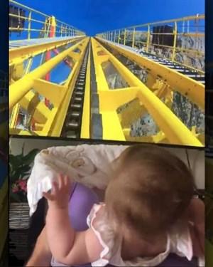 Стави га бебе на ролеркостер   оно уопште не е одушевено