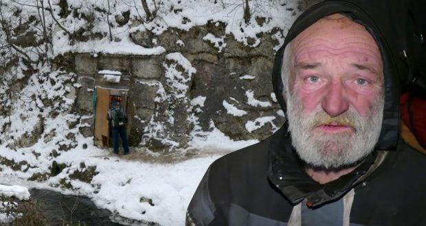 Балкански пештерски човек  Жарко веќе 8 години живее во карпи и нема намера да го менува својот живот